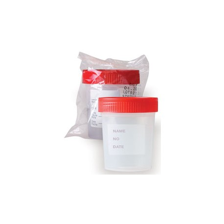 Cup Urine Sterile 4oz IndivWrapped 100/Ca
