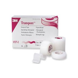 "Transpore Surgical Tape 1""x10yd 12/Bx, 10 BX/CA"