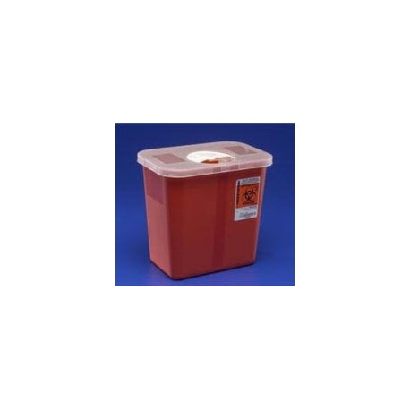 Sharps Container Red Transprnt 3 Gallon Ea, 10 EA/CA