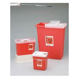 Sharps Container Multipurpose with Red Rotor Lid 2 Gallon Each, 20 EA/CA
